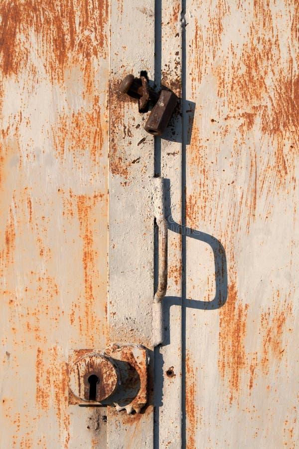 μέταλλο κλειδωμάτων πορ&ta στοκ φωτογραφία