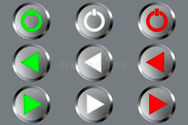 μέταλλο κουμπιών διανυσματική απεικόνιση