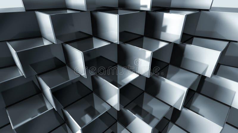 μέταλλο κύβων διανυσματική απεικόνιση