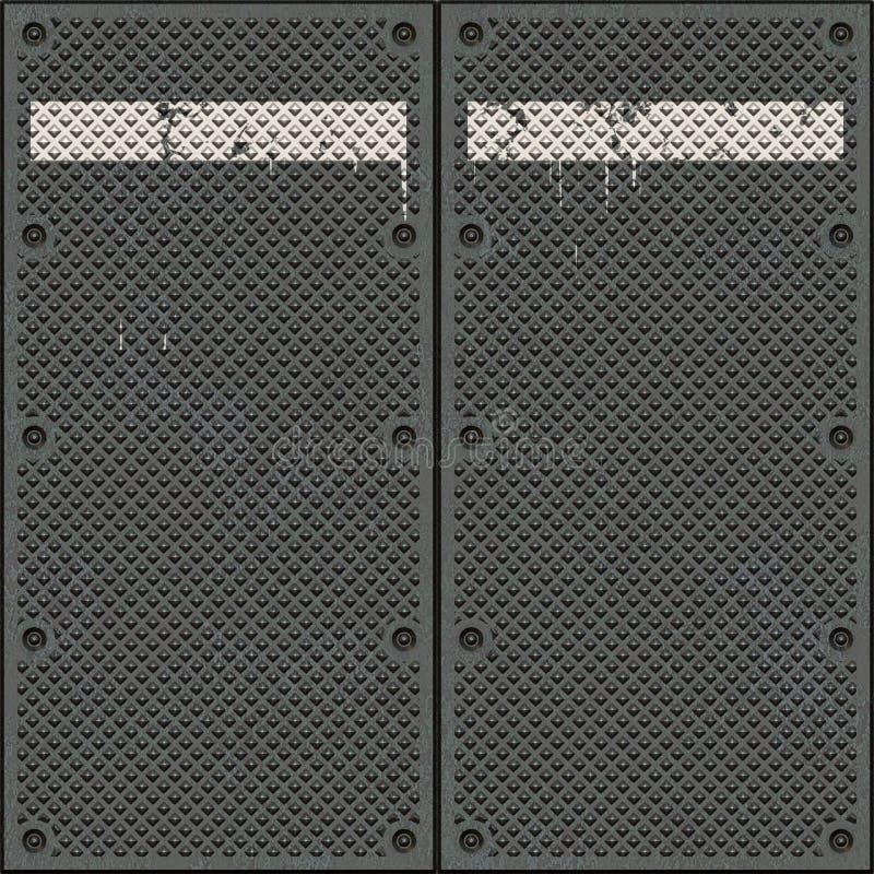 μέταλλο πορτών παλαιό απεικόνιση αποθεμάτων