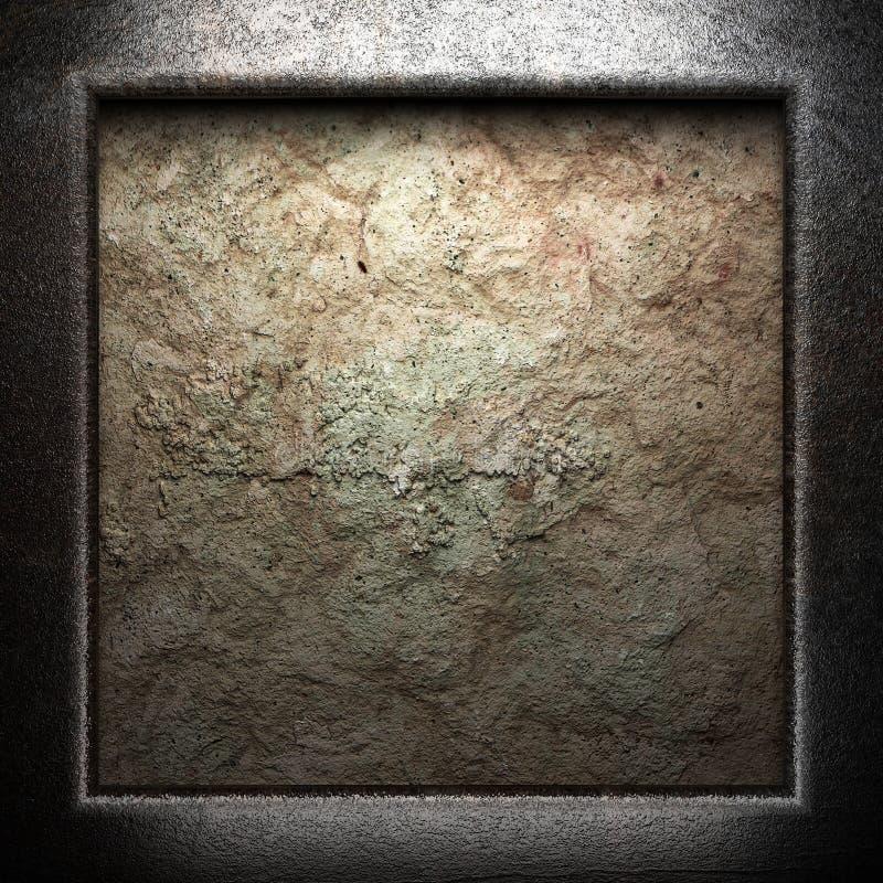 Μέταλλο στον τοίχο απεικόνιση αποθεμάτων