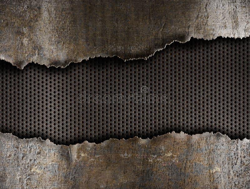 μέταλλο τρυπών ανασκόπησης που σχίζεται στοκ εικόνα με δικαίωμα ελεύθερης χρήσης