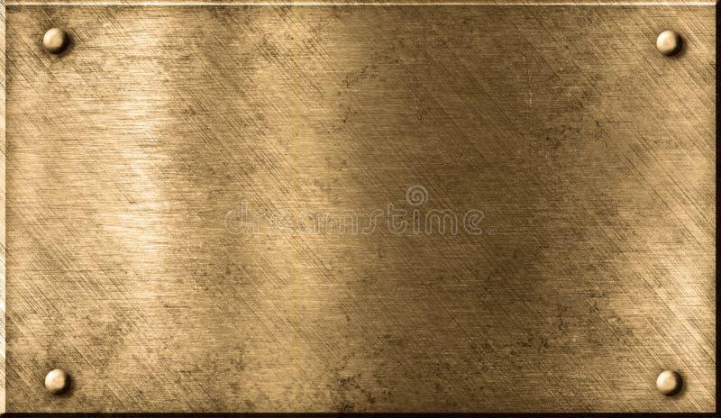 μέταλλο χαλκού ορείχαλκου ανασκόπησης grunge στοκ εικόνα