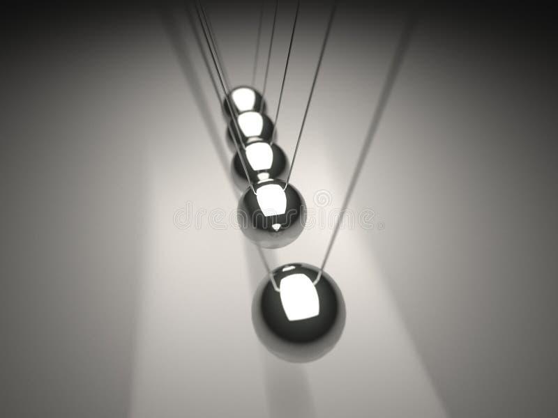 μέταλλο Newton s λίκνων σφαιρών στοκ φωτογραφία με δικαίωμα ελεύθερης χρήσης