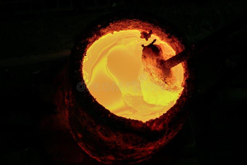 μέταλλο λειωμένο στοκ φωτογραφίες με δικαίωμα ελεύθερης χρήσης