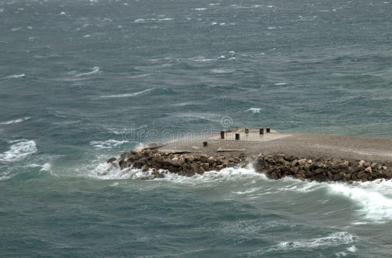 Μέτωπο αποβαθρών για τον ελλιμενισμό των σκαφών στοκ φωτογραφία