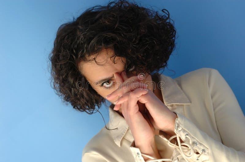 Download μέτωπο η γυναίκα αφών της στοκ εικόνα. εικόνα από businessperson - 124411