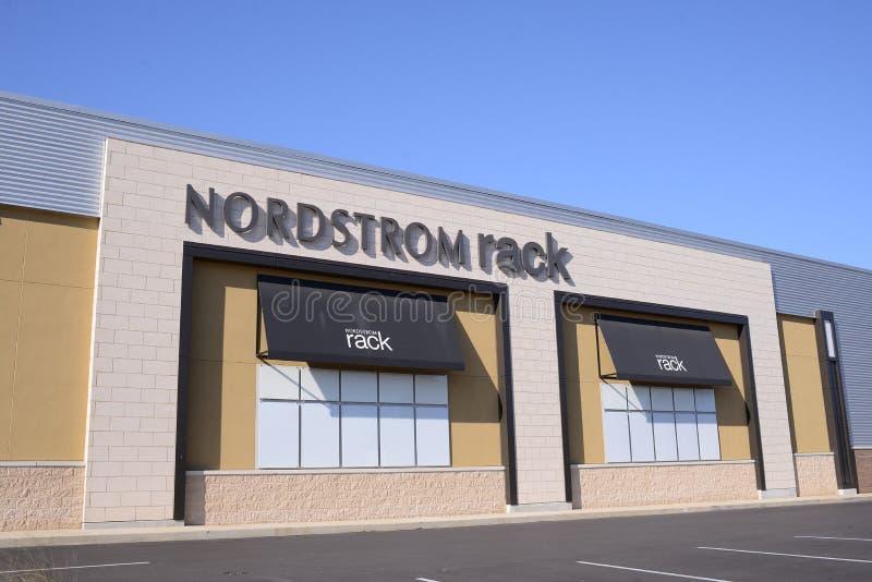 Μέτωπο καταστημάτων ραφιών Nordstrom στοκ εικόνα