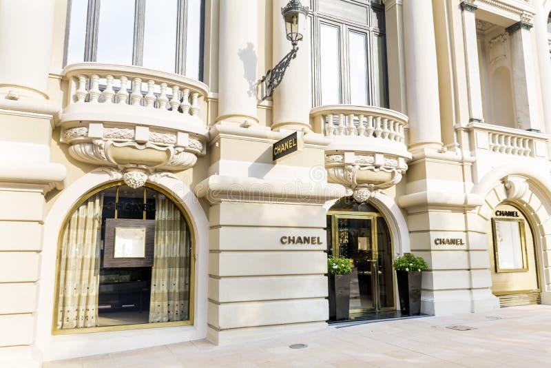 Μέτωπο καταστημάτων της Chanel στο Μόντε Κάρλο, Μονακό στοκ φωτογραφία με δικαίωμα ελεύθερης χρήσης