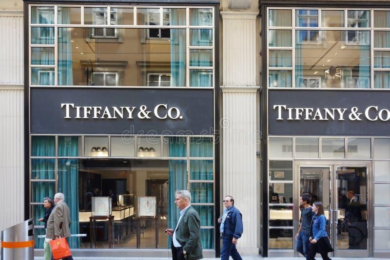Μέτωπο καταστημάτων της Tiffany στη Βιέννη Αυστρία στοκ εικόνες με δικαίωμα ελεύθερης χρήσης