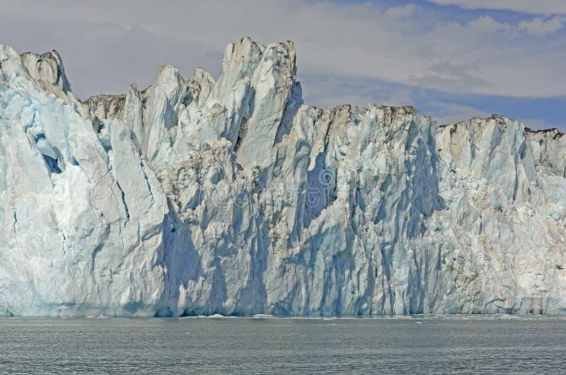 Μέτωπο πάγου ενός παλιρροιακού παγετώνα στοκ φωτογραφία