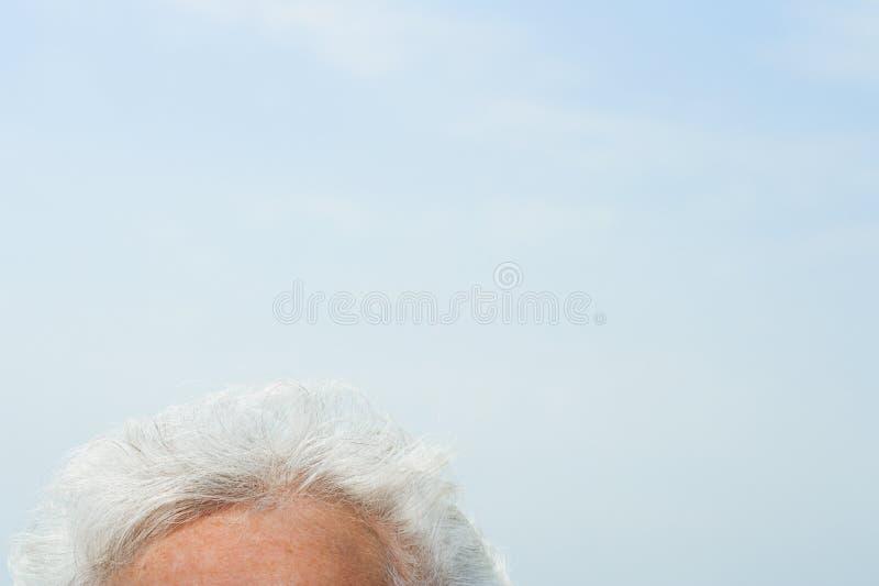 Μέτωπο της ανώτερης γυναίκας στοκ φωτογραφίες