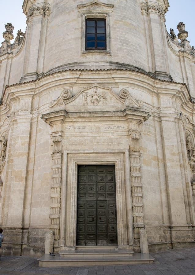 Μέτωπο της εκκλησίας του καθαρτηρίου, $matera στοκ φωτογραφίες με δικαίωμα ελεύθερης χρήσης