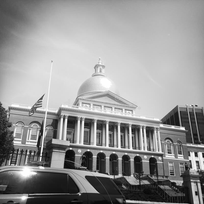 Μέτωπο της Μασαχουσέτης Βουλή, Βοστώνη στοκ εικόνες με δικαίωμα ελεύθερης χρήσης