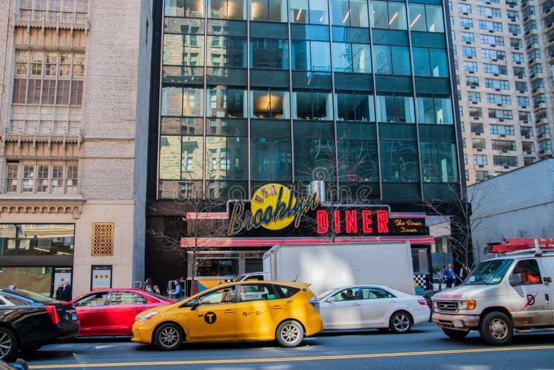 Μέτωπο του διάσημου γευματίζοντος του Μπρούκλιν που βρίσκεται στο Μανχάταν, πόλη της Νέας Υόρκης στοκ φωτογραφία με δικαίωμα ελεύθερης χρήσης