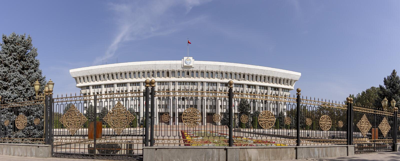 Μέτωπο του Λευκού Οίκου, Bishkek, Κιργιστάν στοκ φωτογραφίες