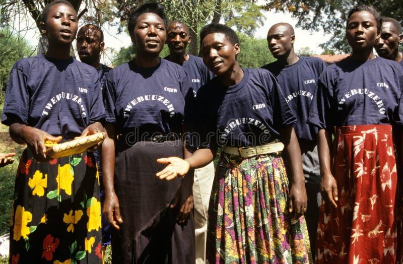 Μέλη των κοινοτικών αναπαραγωγικών εργαζομένων στον ιατρικό κλάδο, Ουγκάντα στοκ εικόνα