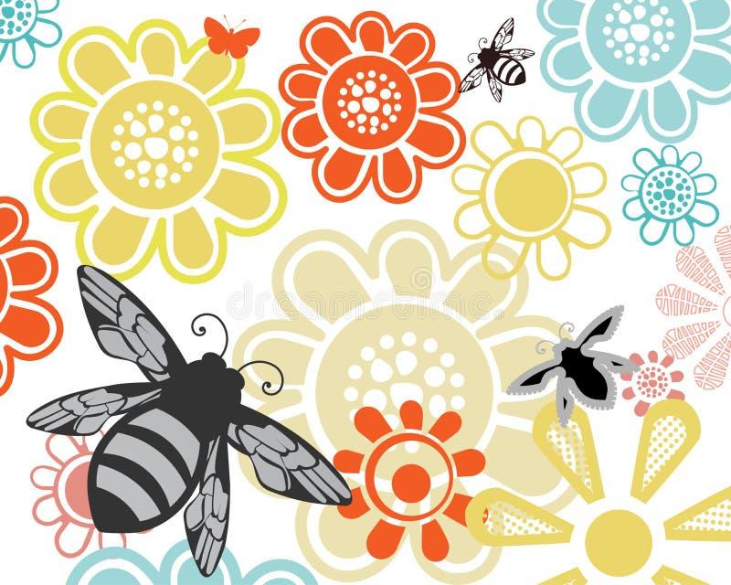 Μέλισσες στον κήπο μου απεικόνιση αποθεμάτων