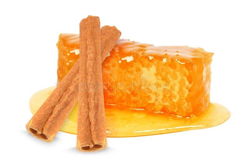 Μέλι και κανέλα στοκ εικόνες