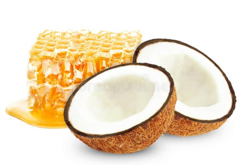 Μέλι και καρύδα στοκ φωτογραφία με δικαίωμα ελεύθερης χρήσης