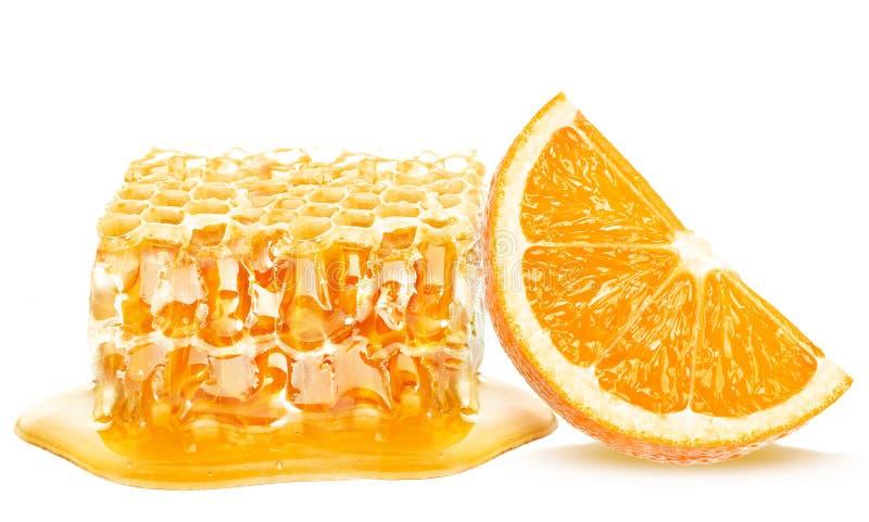 Μέλι και πορτοκάλι στοκ φωτογραφίες