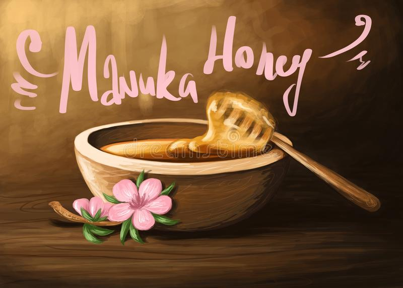Μέλι 1 Manuka απεικόνιση αποθεμάτων