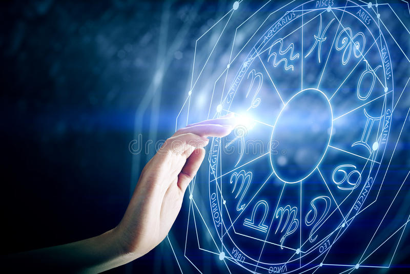 Μέλλον και aries έννοια διανυσματική απεικόνιση