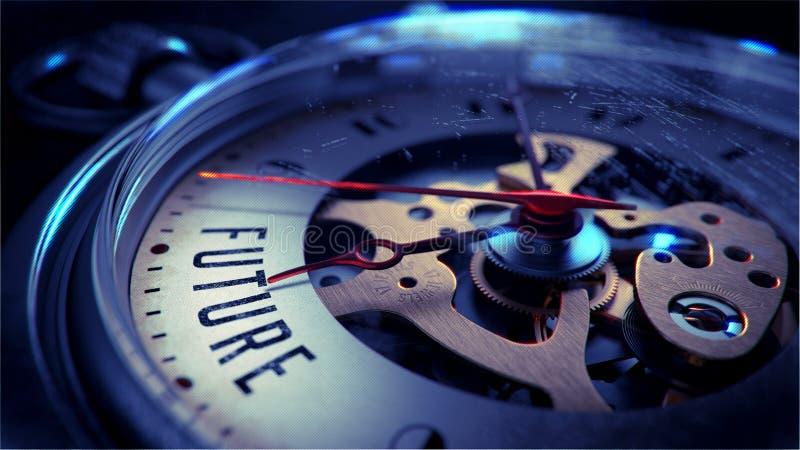 Μέλλον στο πρόσωπο ρολογιών τσεπών χρονικό λευκό αντικειμένου ανασκόπησης απομονωμένο έννοια στοκ εικόνες με δικαίωμα ελεύθερης χρήσης