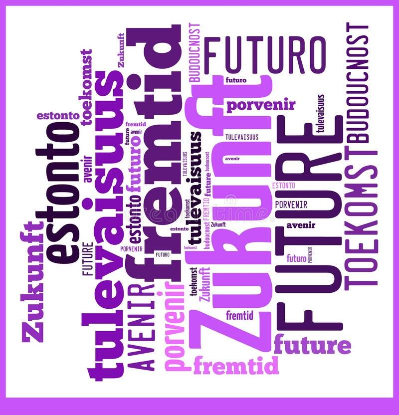 Μέλλον σύννεφων λέξης στις διαφορετικές γλώσσες στοκ φωτογραφίες με δικαίωμα ελεύθερης χρήσης