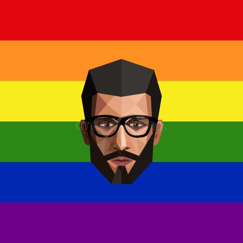 Μέλος της κοινότητας LGBT διανυσματική απεικόνιση