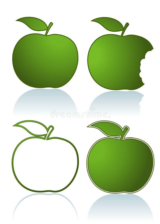 μήλα πράσινα ελεύθερη απεικόνιση δικαιώματος