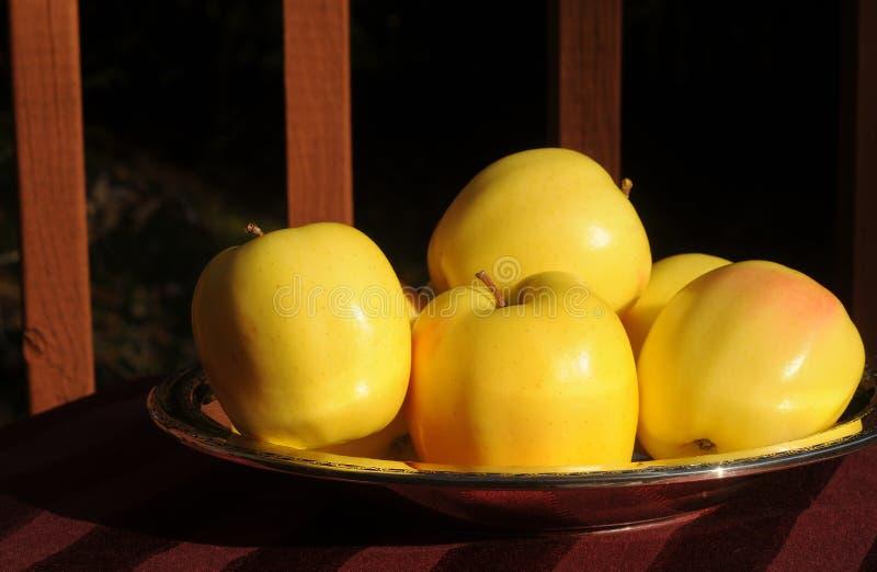 μήλα χρυσά στοκ εικόνα με δικαίωμα ελεύθερης χρήσης