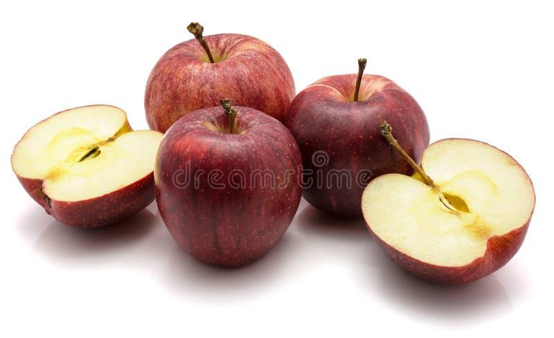 Μήλα Gala που απομονώνονται στο άσπρο υπόβαθρο στοκ εικόνες