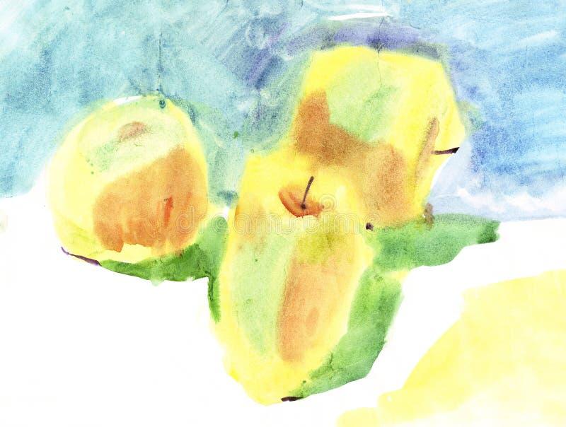 μήλα watercolour απεικόνιση αποθεμάτων