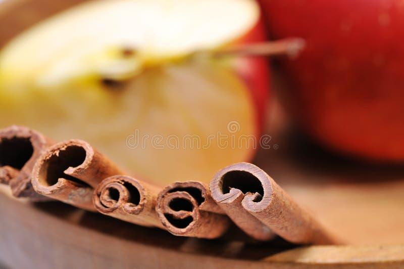 Μήλο & κανέλα στοκ εικόνες