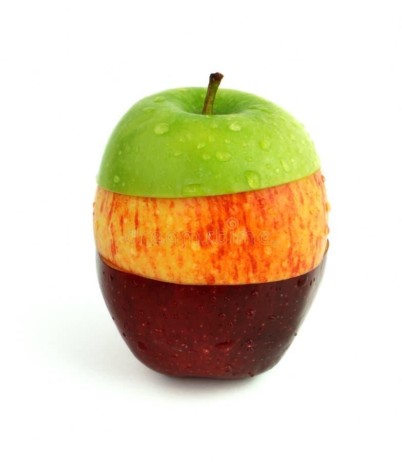 μήλο μικτό στοκ εικόνες