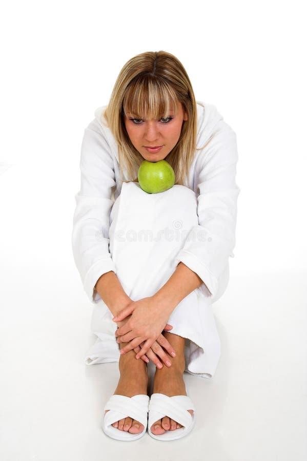 Download μήλο στοκ εικόνα. εικόνα από ευτυχής, πρόσωπο, λαχανικά - 1531365