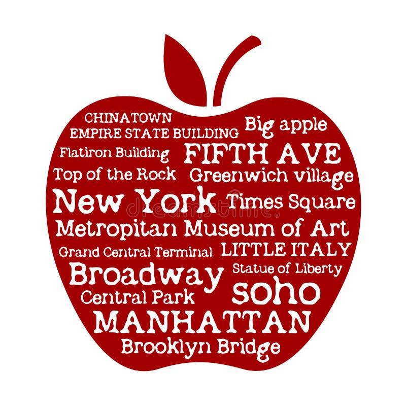 Μήλο NYC διανυσματική απεικόνιση