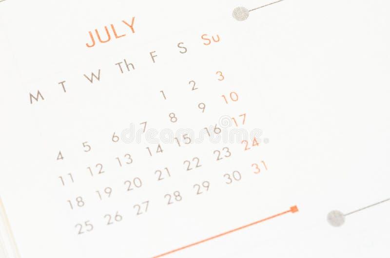 Μήνας Ιουλίου στοκ φωτογραφία