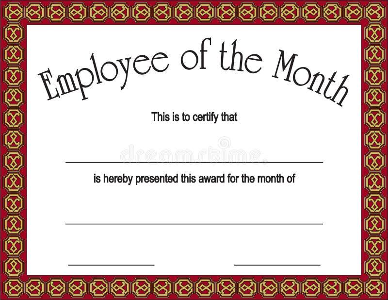 μήνας υπαλλήλων βραβείων διανυσματική απεικόνιση