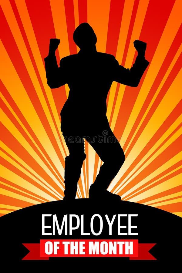 Μήνας υπαλλήλων διανυσματική απεικόνιση