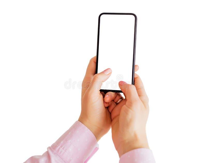 Μήνυμα γραψίματος προσώπων στο τηλέφωνο Κινητό app πρότυπο στοκ εικόνα