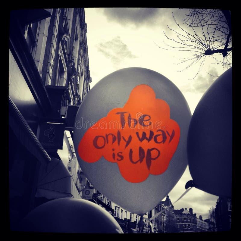 Μήνυμα μπαλονιών στοκ εικόνες με δικαίωμα ελεύθερης χρήσης