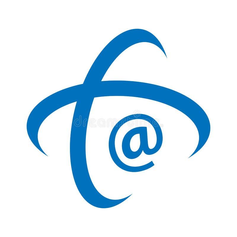 μήνυμα μήνυμα νήματος του λογότυπου του εικονιδίου ηλεκτρονικού ταχυδρομείου σε λευκό φόντο σε μοντέρνο στυλ σχεδίασης στοκ εικόνες