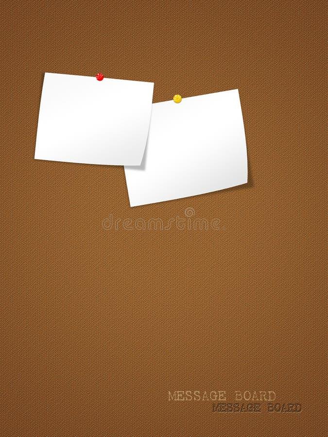 μήνυμα παρουσίασης χαρτ&omicron διανυσματική απεικόνιση