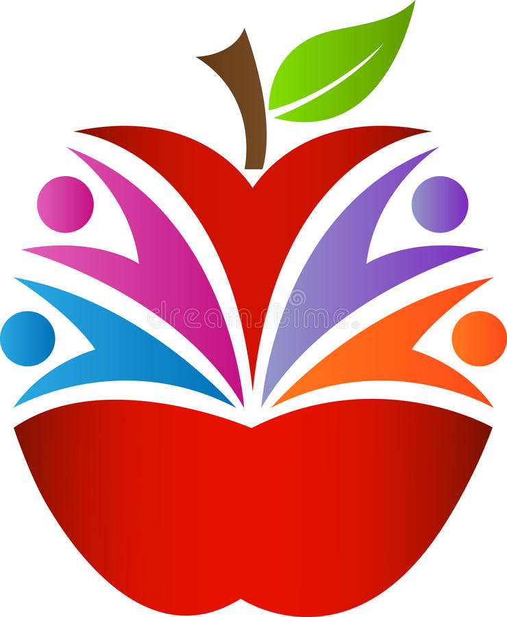 Μήλο ανθρώπων διανυσματική απεικόνιση