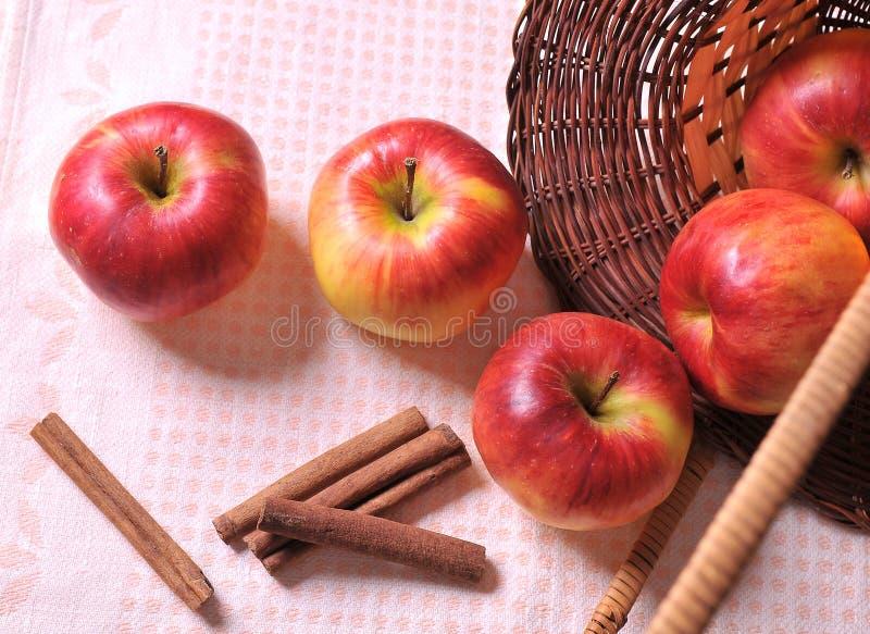 Μήλο με την κανέλα στοκ εικόνα με δικαίωμα ελεύθερης χρήσης