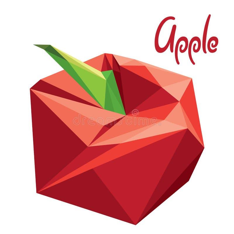 Μήλο Origami (χαμηλός πολυ) (+EPS 10) ελεύθερη απεικόνιση δικαιώματος