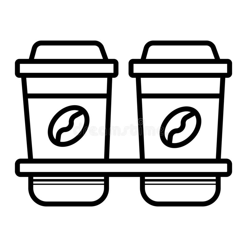 Μίας χρήσης εικονίδιο φλυτζανιών καφέ διανυσματική απεικόνιση