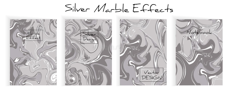 Μίγμα ακρυλικών χρωμάτων Υγρή μαρμάρινη σύσταση διανυσματική απεικόνιση